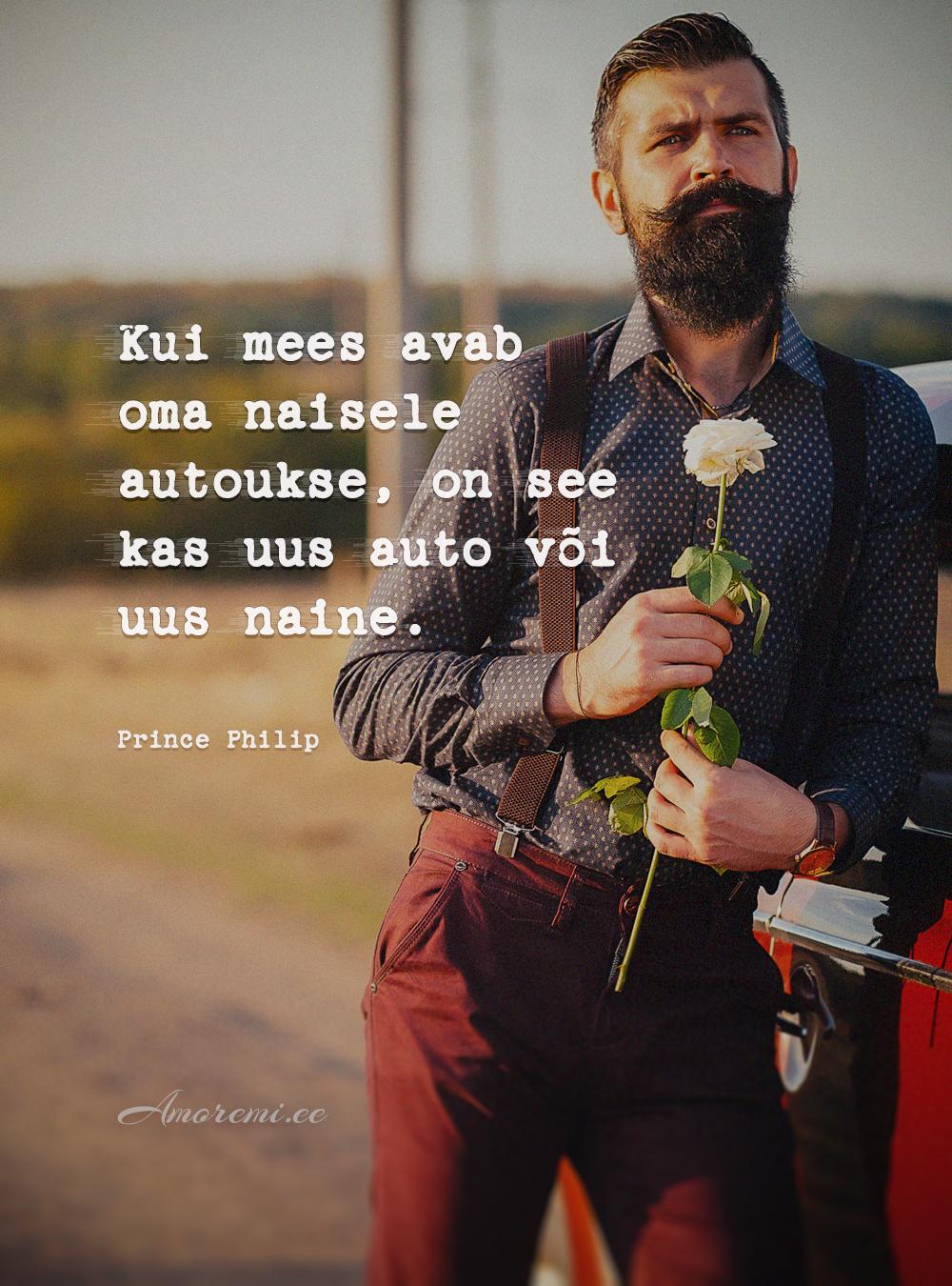 Tsitaadid meestest: mees roosiga