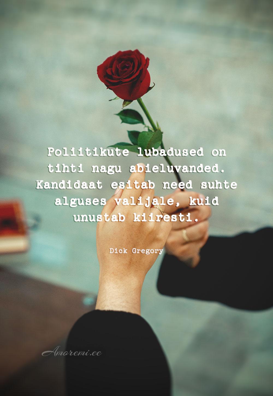 Tsitaadid suhetest: ulatab roosi