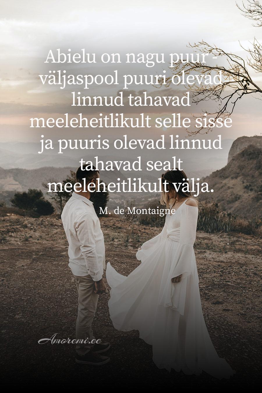 Abiellunud paar - tsitaat