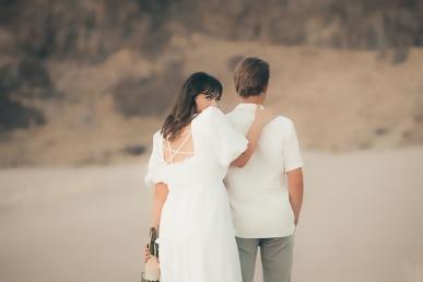Naine koos mehega