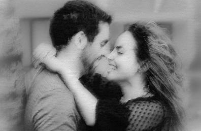 Armastav paar kallistab