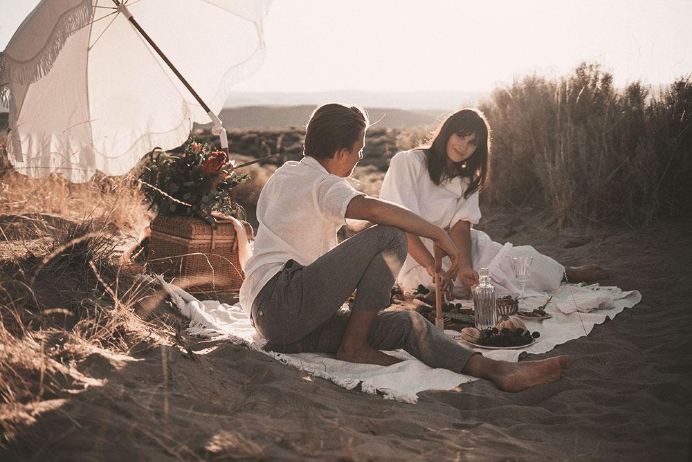 Tutvunud paar piknikul