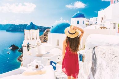 Romantika Santorinil