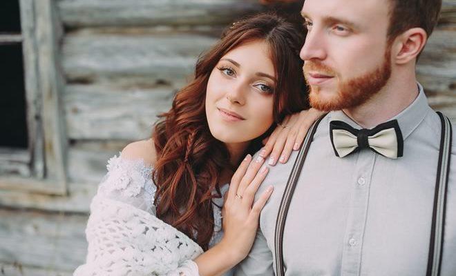 Naine ja mees õnnelikud