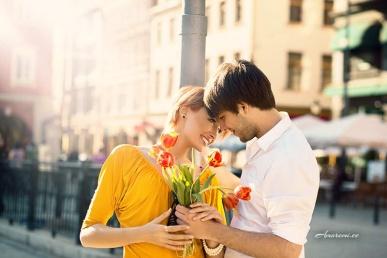 Kohting kallimaga ja lilledega