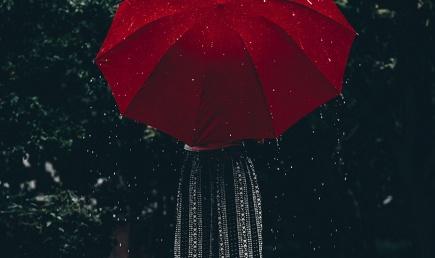 Naine vihmavarjuga